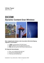 White Paper Dynamic Content Over Wireless (DCOW)